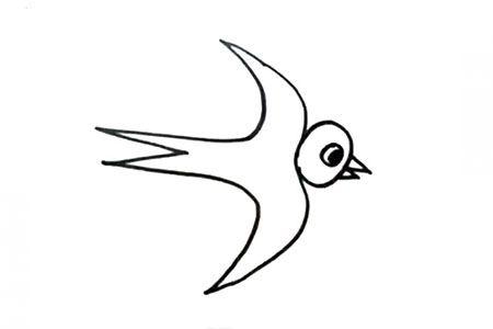 燕子的简单画法