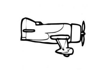 简单的战斗机简笔画