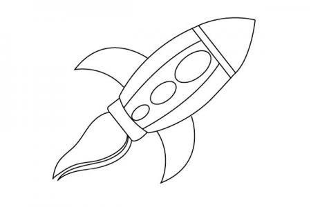 宇宙飞船简笔画怎么画
