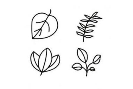 儿童树叶简笔画