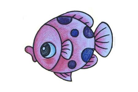 初级简笔画 小鱼