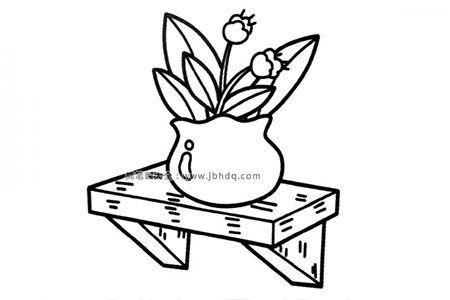 台子上的盆栽
