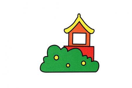 林间小亭简笔画
