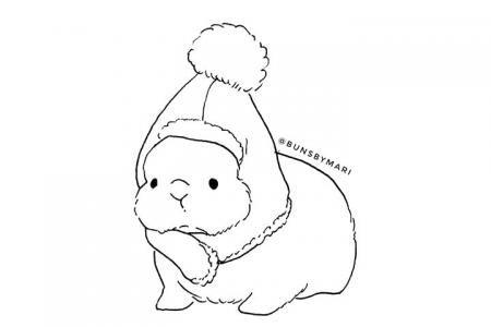 萌萌哒胖兔兔简笔画图片