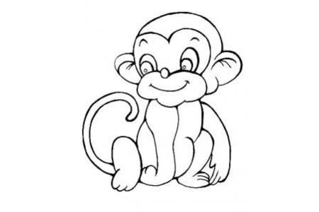 动物简笔画 可爱的小猴子简笔画