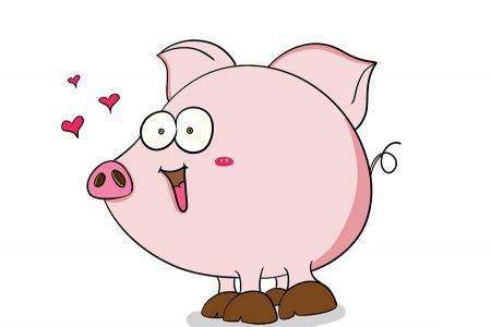 超萌的小猪简笔画图片