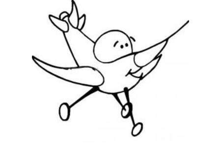 卡通小型飞机简笔画