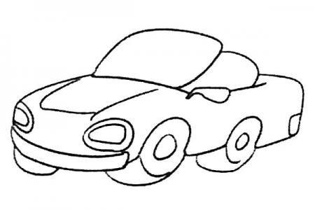 拉风的跑车简笔画图片