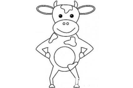 强壮的奶牛简笔画