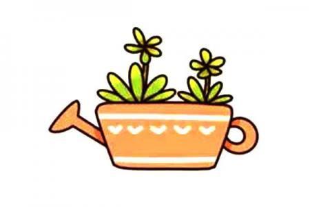 漂亮的多肉植物简笔画12