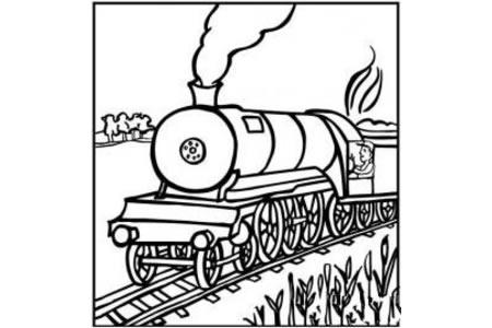 卡通火车简笔画