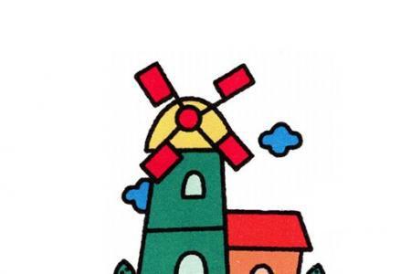 简单的风车怎么画