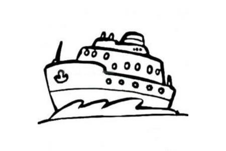 豪华游艇简笔画