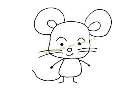 可爱的大耳朵老鼠简笔画图片