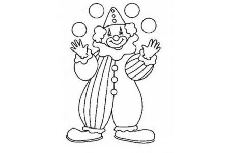 儿童人物简笔画小丑