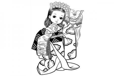 4张中国古典美女简笔画图片