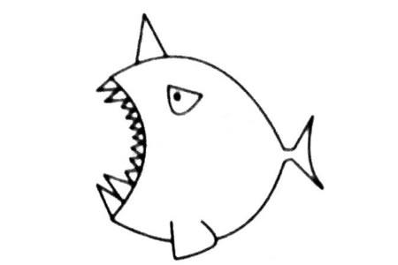 独角鲸简笔画大全及画法步骤