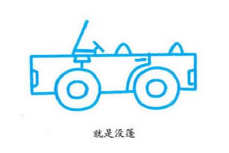 卡通吉普车的画法步骤