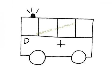 简单线条画救护车