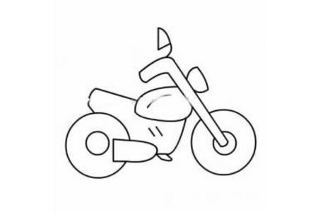 帅气的摩托车简笔画