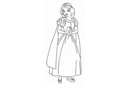 动漫人物简笔画 白雪公主简笔画图片