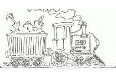 运煤的蒸汽火车