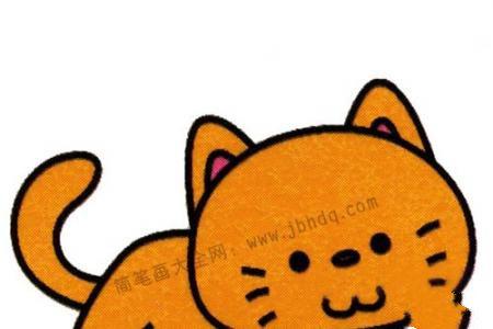 可爱的小猫简笔画教程