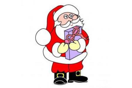 圣诞老人抱礼物