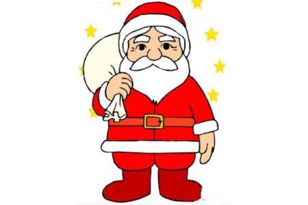 星光闪闪的圣诞老人