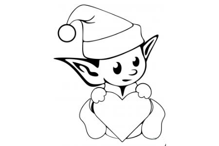 可爱的圣诞小精灵