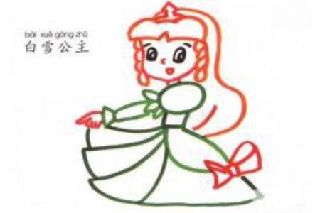 儿童学画卡通人物 白雪公主