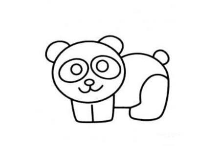 幼儿简笔画图片大全 大熊猫简笔画