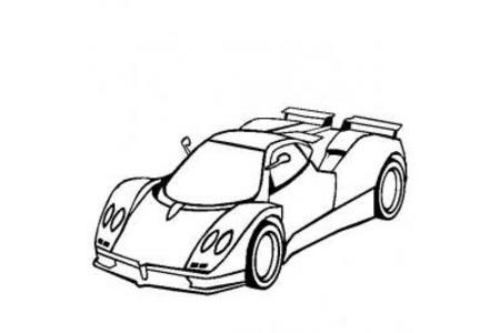 帕加尼风之子超级跑车简笔画