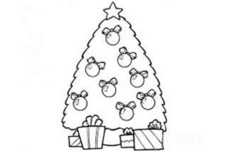 奇妙的圣诞树简笔画图片