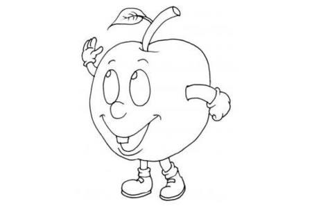 卡通水果简笔画大全 卡通苹果简笔画