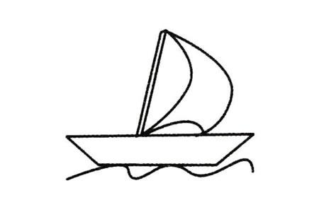 帆船简笔画大全及画法步骤