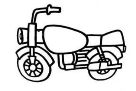高架摩托车简笔画