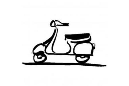小摩托车简笔画