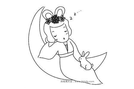 熟睡的嫦娥