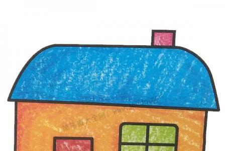 幼儿学画房子3
