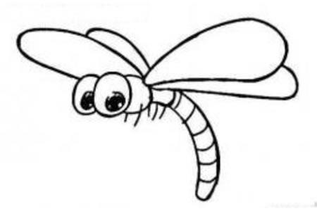 卡通蜻蜓简笔画