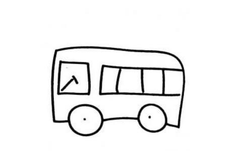 交通工具简笔画 幼儿公共汽车简笔画图片