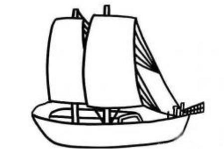 一帆风顺 帆船简笔画