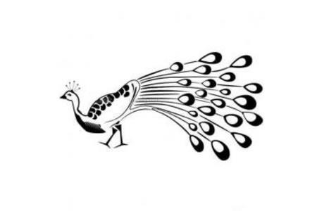 简单的孔雀简笔画图片