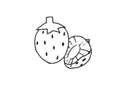 超萌草莓简笔画