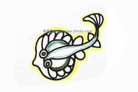 11张海洋鱼类的简笔画图片