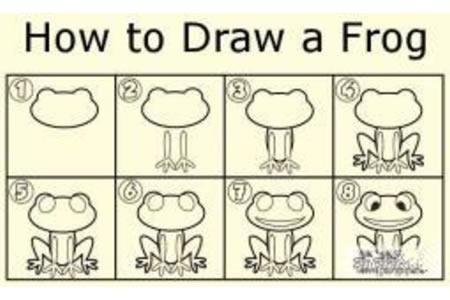 如何画青蛙 青蛙简笔画教程
