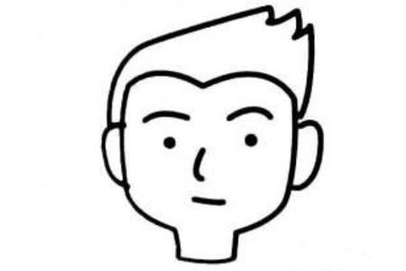 卡通男孩头像简笔画