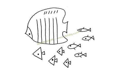 热带鱼简笔画图片大全