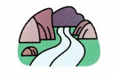 简笔画河流的画法
